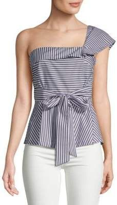 79aed2b6f068 One-Shoulder Striped Cotton Blouse. Tammie s · My Saks Fifth Avenue  Collection