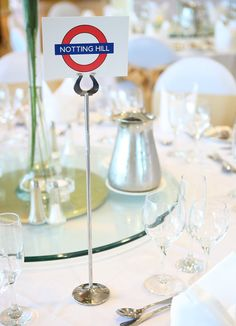 London Underground Wedding Table Name Cards - for Louise
