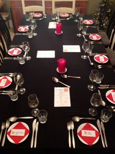 Spanish themed supper club table for 12