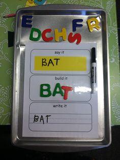 Literacy Center Ideas: Say it, build it, write it