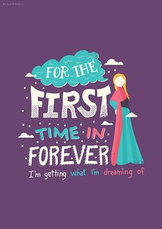 For the first time.. ~ Frozen (2013) Movie Quotes ~ Art by Risa Rodil #amusementphile