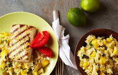 UNCLE BEN'S® Grilled Mahi Mahi with Pineapple Green Rice