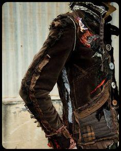 #fashion #clothing #jacket #accessories #detail #bag | Post-apocalyptic Fashion |
