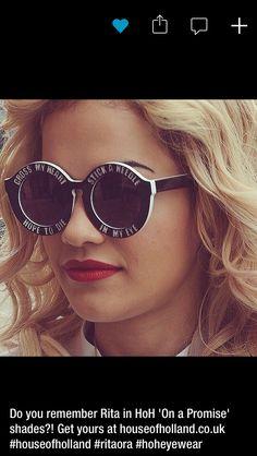 Rita ora's new specks! Awesome x