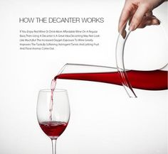 Durable Crystal Lead-Free Shaped Wine Decanter Carafe Aerator Pourer