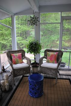 216 best screened in porch decorating ideas images on Pinterest in ...