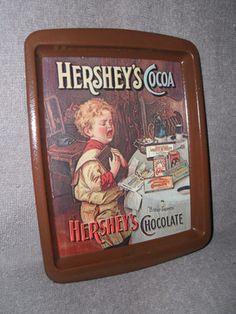 Vintage Hershey's Cocoa Bitter Sweet Chocolate Metal Tray Hershey Cocoa, Hershey Chocolate, Chocolate Heaven, Metal Trays, Bitter, Tins, Lunch Box, Vintage, Sweet