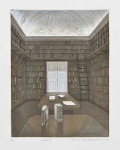 Chosen - Elina Luukanen, 1984 Finnish, Etching, 26 x cm. Artsy Fartsy, Finland, Building, Prints, Home Decor, Books, Sun, Yellow, Italia