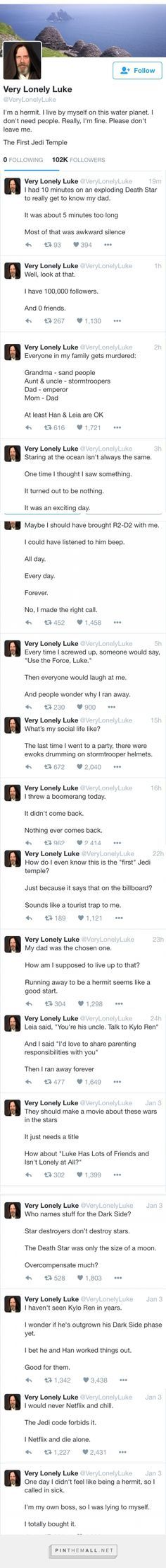 Very Lonely Luke. THIS IS TOO MUCH OMG I CANT STOP LAUGHING @bluestockingirl