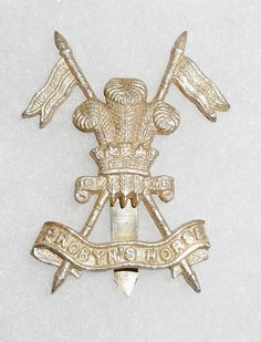 INDIAN ARMY CAST WHITE/SILVERED METAL CAP BADGE OF PROBYNS HORSE..   eBay