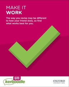 One of our essential revision tips. Exam Revision, Revision Tips, What Works, Make It Work