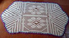 Resultado de imagem para tapete oval em croche