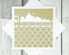 Eid Mubarak Card, Unique Jewelry, Handmade Gifts, Cards, Etsy, Vintage, Home Decor, Kid Craft Gifts, Hand Made Gifts