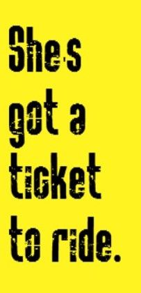 The Beatles - Ticket to Ride - song lyrics, music lyrics, song quotes