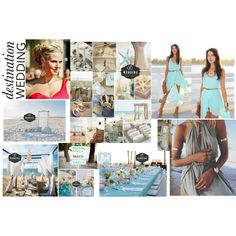 wedding on the beach by paty-polyvore on Polyvore