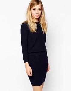 Pulloverkleid mit elastischem Taillenbund