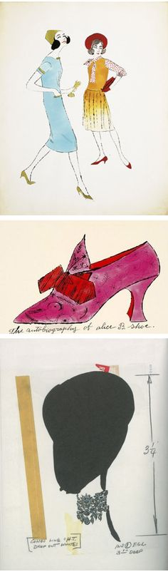 Fashion illustration made by Andy Warhol at the beginning of his career.