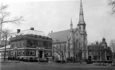 YMCA - Wakefield, Massachusetts    A 1930 photo showing (left to right) the Wakefield YMCA, the Baptist Church and the Lafayette Building (presently the William J. Lee Town Hall). From the Payro Collection.