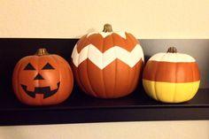 Hand painted DIY pumpkins