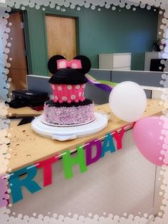 Minnie Mouse Giant Cupcake—Birthday Cake