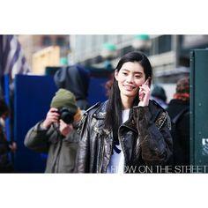 photo by @flowonthestreet http://www.flowonthestreet.com  Ming Xi, NYFW FW14
