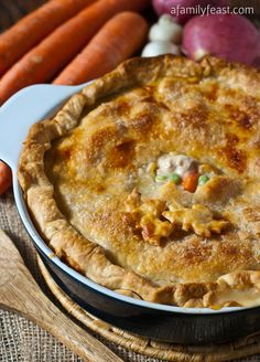 Turkey Pot Pie - The best recipe you'll ever make for Turkey Pot Pie!  A great, delicious way to use up Thanksgiving leftovers - or make this with chicken instead and serve it year-round like we do!