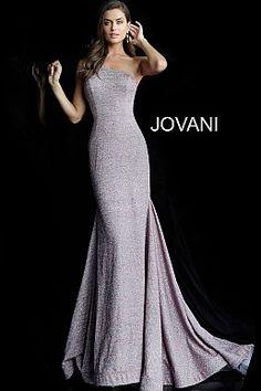 1f794e411c Mauve One Shoulder Sleeveless Glitter Prom Dress 67650