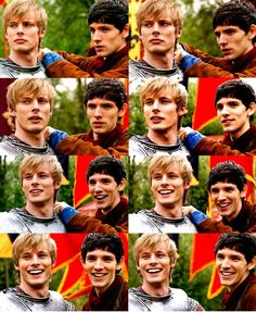 Bradley and Colin laughter - Merlin