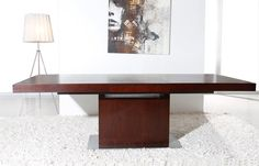 Modrest Zenith - Modern Red Oak Extendable Dining Table - ModLivingDecor.Com