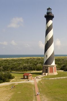 Cape Hatteras Lighthouse on Hatteras Island, NC