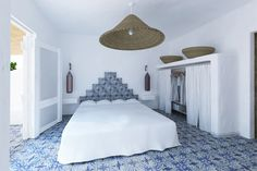 Bedroom in the Hotel Mari del Sud on the eolian island of Vulcano, Sicily