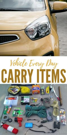 Vehicle Every Day Carry Items - If you want to be more prepared, check out this awesome vehicle every day carry list that will help you out tremendously if you find yourself suck in a situation where you only have your vehicle.