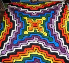 Square and ripple blanket - Free Pattern