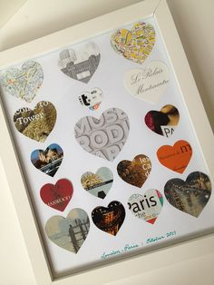 All the paper you collect on a trip turned into--Travel Hearts 2 by fabricpaperglue, via Flickr
