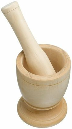 Imusa Wood Mortar with Pestle by Imusa USA. $14.99. Standard Size. Perfect for Crushing Spices. Sturdy Construction. The wood mortar and pestle is great for crushing spices. The unique design make the product sturdy. The pestle will crush your favorite herbs and spices. Handwash is recommended with warm soapy water.
