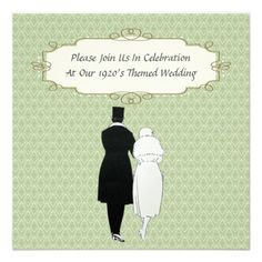 1920's Themed Wedding Invitations