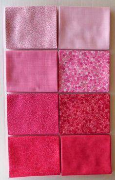 Patrick Lose~Lipstick-Pink~ Fat Quarter Bundle of 8~by RJR Fabrics