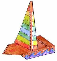 Free download for Paper Sailboats.   Make an armada of these little boats to keep children amused.  Put a line of masking tape on the floor to make a finish line. Sail Away!