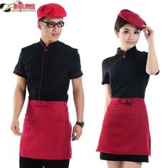 Hotel waitress uniforms overalls summer clothing summer dining restaurant uniforms tooling male-tmall.com day
