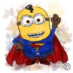Mimoň Supermanem. #minions #minion #superman #branding #brand #paint #webdesign #mimoň #kreslený #kresba