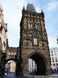 Powder Tower - here starts the royal route to Prague Castle