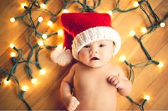 This little Santa nailed his first Christmas photo shoot