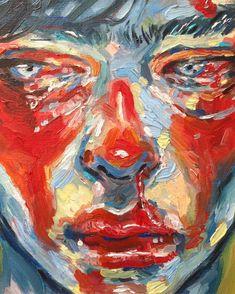 Face detail of a new oil study ❤️What do you think? Art Sketches, Art Drawings, A Level Art, Art Hoe, Pretty Art, Aesthetic Art, Art Sketchbook, Portrait Art, Face Art