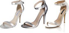..Silver Strappy Heels