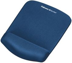 Fellowes - Plush Touch Mouse Pad with Wristrest (Blue)