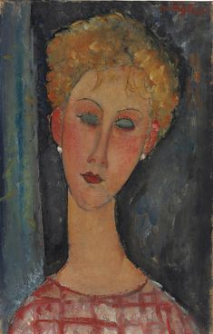 AMEDEO MODIGLIANI (1884-1920) LA BLONDE AUX BOUCLES D'OREILLE