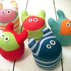Sock monster - fun to do with the great nieces in the summer.