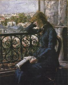 At the Window by Hans Olaf Heyerdahl (1881)