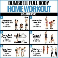 ‼DUMBBELL FULL BODY WORKOUT‼ — The majority of my posts tend to be about nutrition. Reason being, when it comes to losing weight, diet… body workout at home with weights Full Body Workouts, Dumbell Full Body Workout, Workout Hiit, Weight Training Workouts, At Home Workouts, Full Body Weight Workout, Workout With Dumbbells, Home Dumbbell Workout, Home Weight Workout