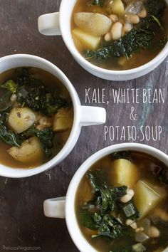 This soup is simple, fresh, and healthy.  Lately, I have been trying to use dried beans over canned. The process does  take a little more time and patience, but I have found I greatly prefer  dried beans over canned. The texture and flavor is SO much better. I find  dried beans a bit intimidating, but each time I work with them I get more  and more comfortable. Also, I am always thrilled with the finished product.  Kale, White Bean, and Potato Soup     * 1 cup dry canellini beans, soaked…